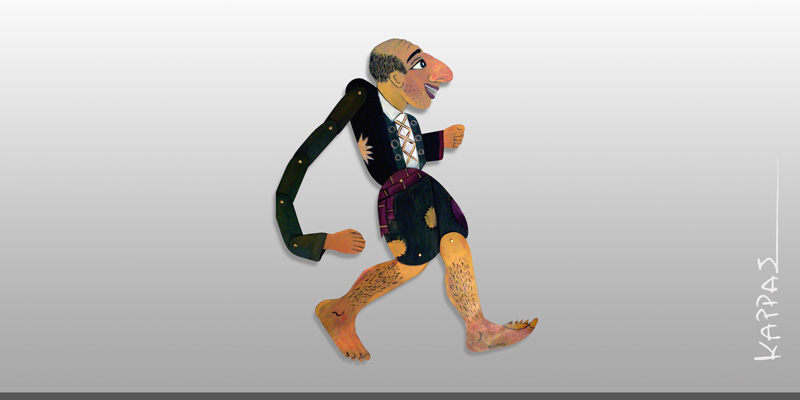 Καραγκιόζης ( Ζωγραφική πάνω σε ξύλο)