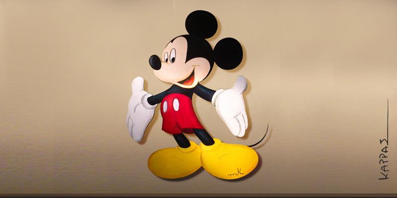 Μίκυ Μάους (Ζωγραφική πάνω σε ξύλο)