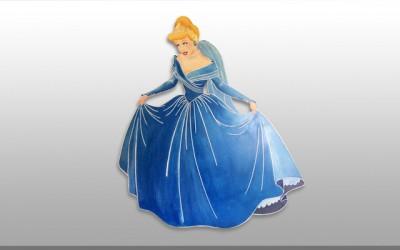Σταχτοπούτα Ζωγραφική πάνω σε ξύλο – Cinderella Hand Painted on wood